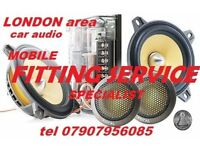 CAR AUDIO RADIO FITTING SPECIALIST head unit changes installation speakers mobile fitter LONDON area