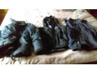 Bundle of boy's coats, ages 9 and 11,black Berghaus raincoat age 9-10, dark blue NEXT coat age9,
