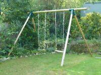 Wooden Double Children's Garden Swing
