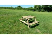 4/6 seater picnic table hand made