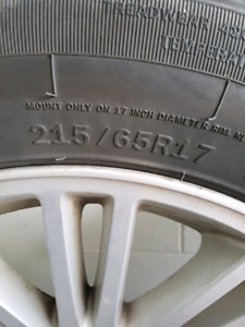 Tires 215/65R 17 sale or trade for snows
