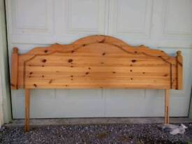 Headboard for Superking Bed Solid Pine