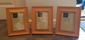 3 oak photo frames