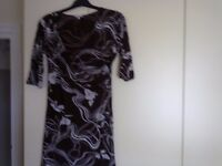 Size 18 dress brown and cream Only £2.50