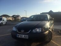 Toyota Avensis. New clutch, exhaust and front tyres. Economical, lots of space. 5 months MOT
