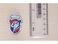Ghia Badge - metal - very nice condition. 76p postage to UK mainland addresses.