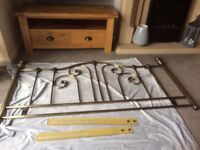 Benson for beds kingsize antique bronze headboard