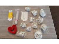 Bargain baking equipment cake flowers plunger cutters heart joblot
