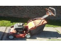 Husqvarna self propelled mower electric start Kawasaki engine expensive new