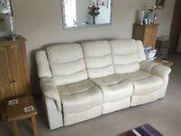 Three seater recliner sofa ONLY 6 MONTHS OLD!!