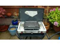 Gelet 2 burner with grill camping cooker
