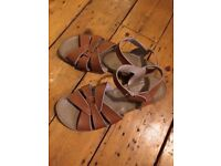 Almost new tan saltwater sandals uk size 8