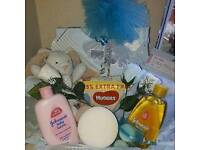 New baby boy gift set in a box