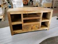 SOLID WOOD TV UNIT IN EXCELLENT CONDITION