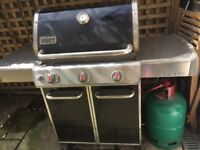 Weber Genesis E310 3 Burner Gas BBQ With Gas plus tools and cover