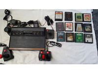 Atari 2600 console, with games, controllers