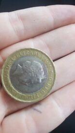 Rare misprint £2 slave coin