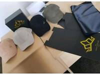 Luxury suede caps/startup full branding packaging snapbacks