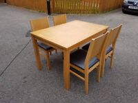 Oak Dining Table 120cm & 4 Chairs FREE DELIVERY 536