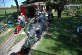Ride-on garden Railway in large garden with 4 bedroom bungalow and swimming pool