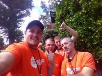 UK Roaming Live-In Door to Door Fundraising £252-306 basic p/w + Bonuses - No Experience Necessary