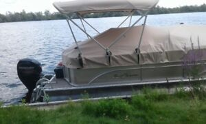 for sale 2014 pontoon boat 20 ft and trailer