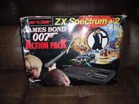 Vintage Sinclair ZX spectrum 128k James Bond 007 Action Pack