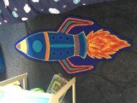Boys Space Rocket Rug