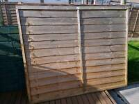 Fence panels x3 gravel boards x3