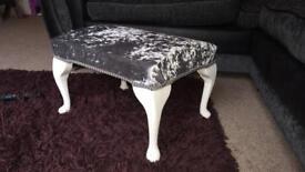 Crushed velvet foot stool