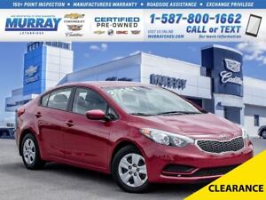 2016 Kia Forte **Low kms!  Bluetooth!**