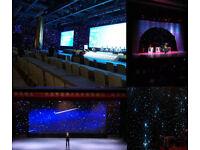 5x3M 6x4M Star Stardust Cloth Curtain Light + Controller Auto-Run Sound Active Manual DMX Wedding