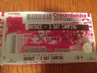 1X 3 day camping - Bronze campsite - Creamfields