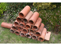 """Clay Drainage Pipes 12"""" long 5"""" diameter"""