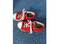 Boys red Dunlop original shoes size 2