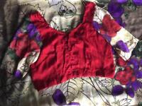 Ladies lightweight flower print sari