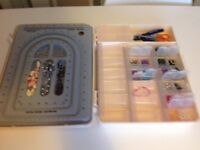 Box of beads and all you need to get started to make something nice