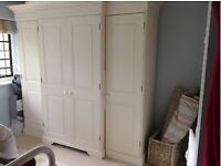 Large break front wardrobe, off-white, very good quality