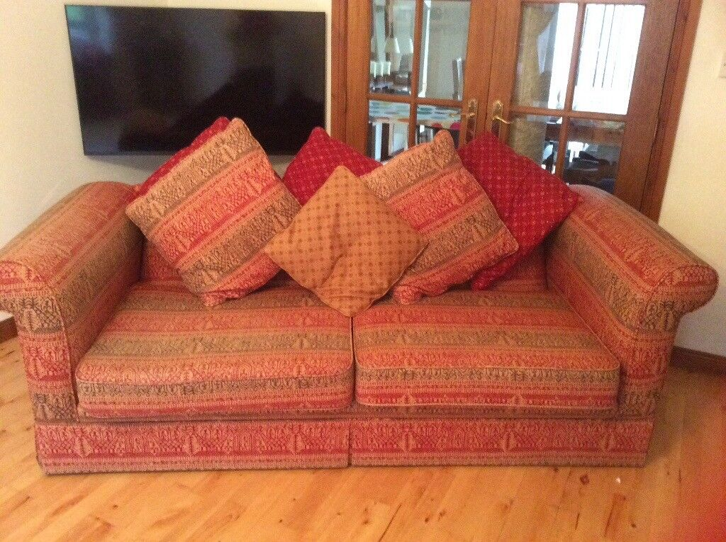 Three seater and two seater sofas for sale in excellent condition.includes cushions with sale.