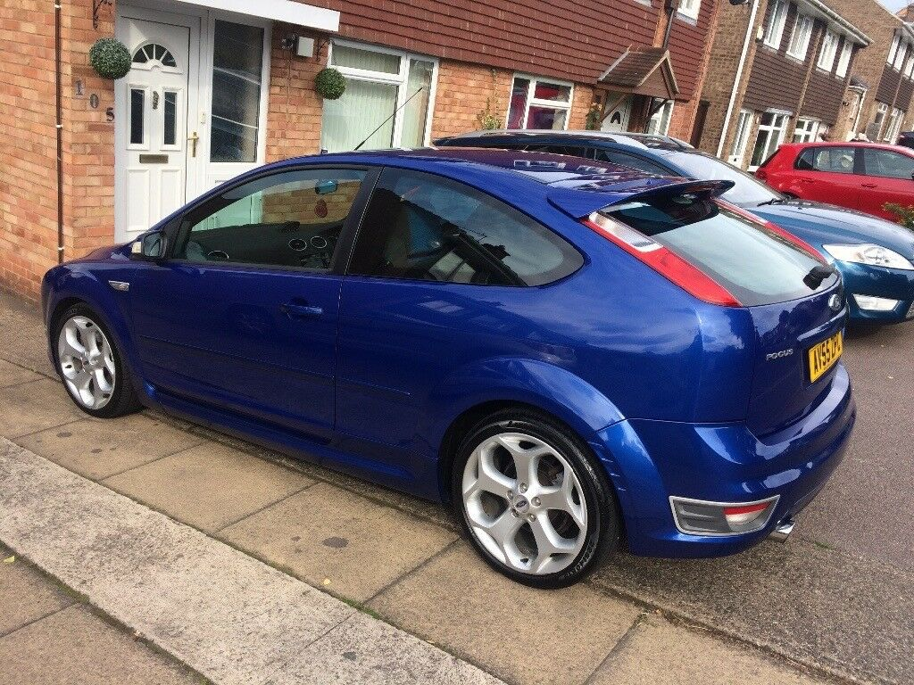 ford focus st 2 2 5 turbo 225 bhp 3 door totally standard may swap px in loughborough. Black Bedroom Furniture Sets. Home Design Ideas