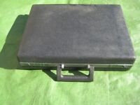 Strong Black Plastic Padded Computer Briefcase