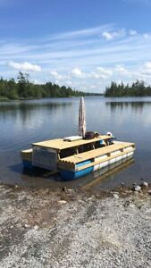 14 Ft  Picnic Table Boat, without motor!