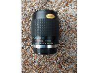 Hoya 135mm lens from Olympus OM-10 camera