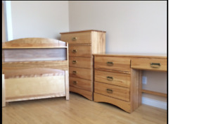 Solid Birch Bedroom Furniture - Very Good Condition