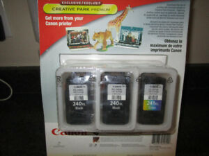 New in Package***3 PACK | Canon PG-240XL and CL-241