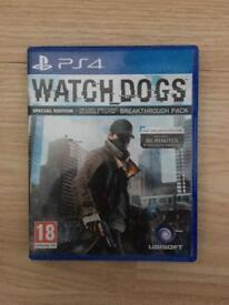 Watch dogs PS4 - in excellent condition