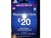PlayStation 4. 2 x £20 top up