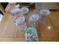 Selection of Kilner style jars for food storage with spare seals TREAD the Globe
