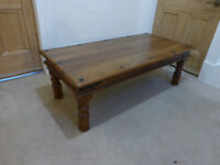 100% solid wood (indian sheesham - I think!) coffee table plus free matching side table