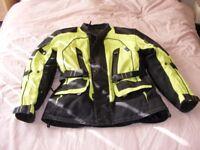 Hi Viz Raven motorcycle jacket.All weather jacket.